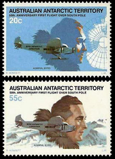 AAT Australian Antarctic Antarctica1979  50th.Anniversary of First Flight over South Pole by American Richard Byrd Stamps Covers