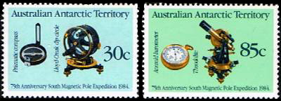AAT Australian Antarctic Antarctica 1984  75th.Anniversary South Magnetic Pole Expedition Stamps Covers