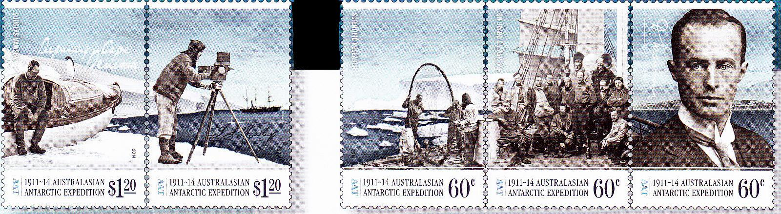 AAT Australian Antarctic  2014  1911-1914 AUSTRALASIAN EXPEDITION  1914 HOMEWARD BOUND Stamps Covers