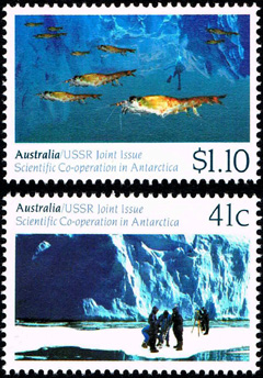 AAT Australian Antarctic Antarctica   1990 Scientific Co-Operation in Antarctica Joint Issue with USSR Stamps Covers