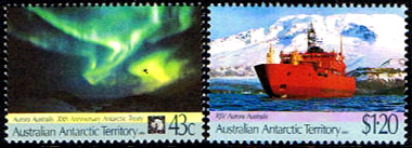 AAT Australian Antarctic Antarctica 1991 30th.Anniversary of the Antarctic Treaty and The Maiden Voyage of RSV Aurora Australis Stamps Covers