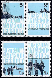 AAT Australian Antarctic Antarctica  2009 South Magnetic Pole Stamps Covers