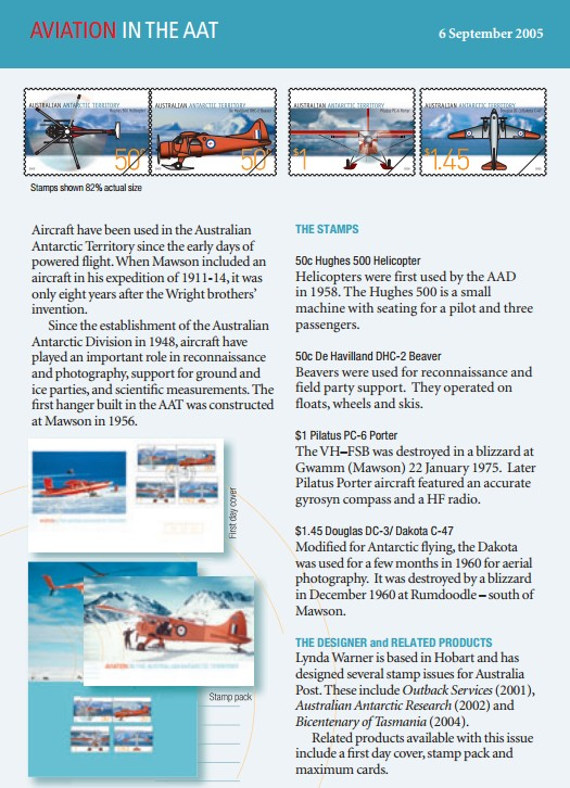 Information from Grahams Australian Antarctic Covers