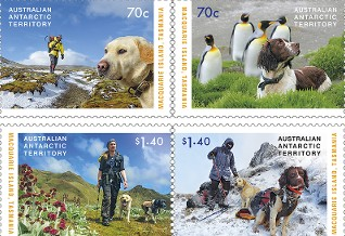 AAT Australian Antarctic   2015 THE DOGS THAT SAVED MACQUARIE ISLAND Stamps Covers