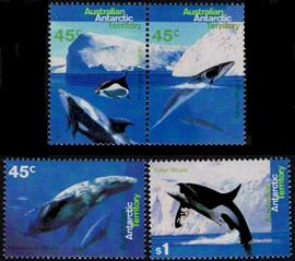 AAT Australian Antarctic Antarctica  1995 Whales and Dolphins Stamps Covers